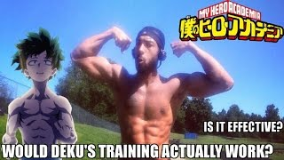 One of JaxBlade's most viewed videos: Would My Hero Academia's Deku FITNESS Training work?