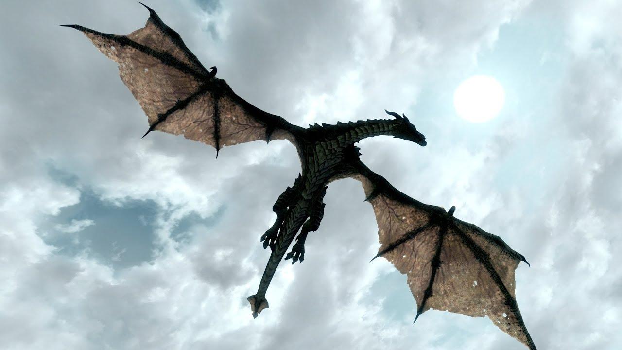 Flying Dragon: Skyrim обзор модов: Deadly Dragons; HD Dragon Replacer