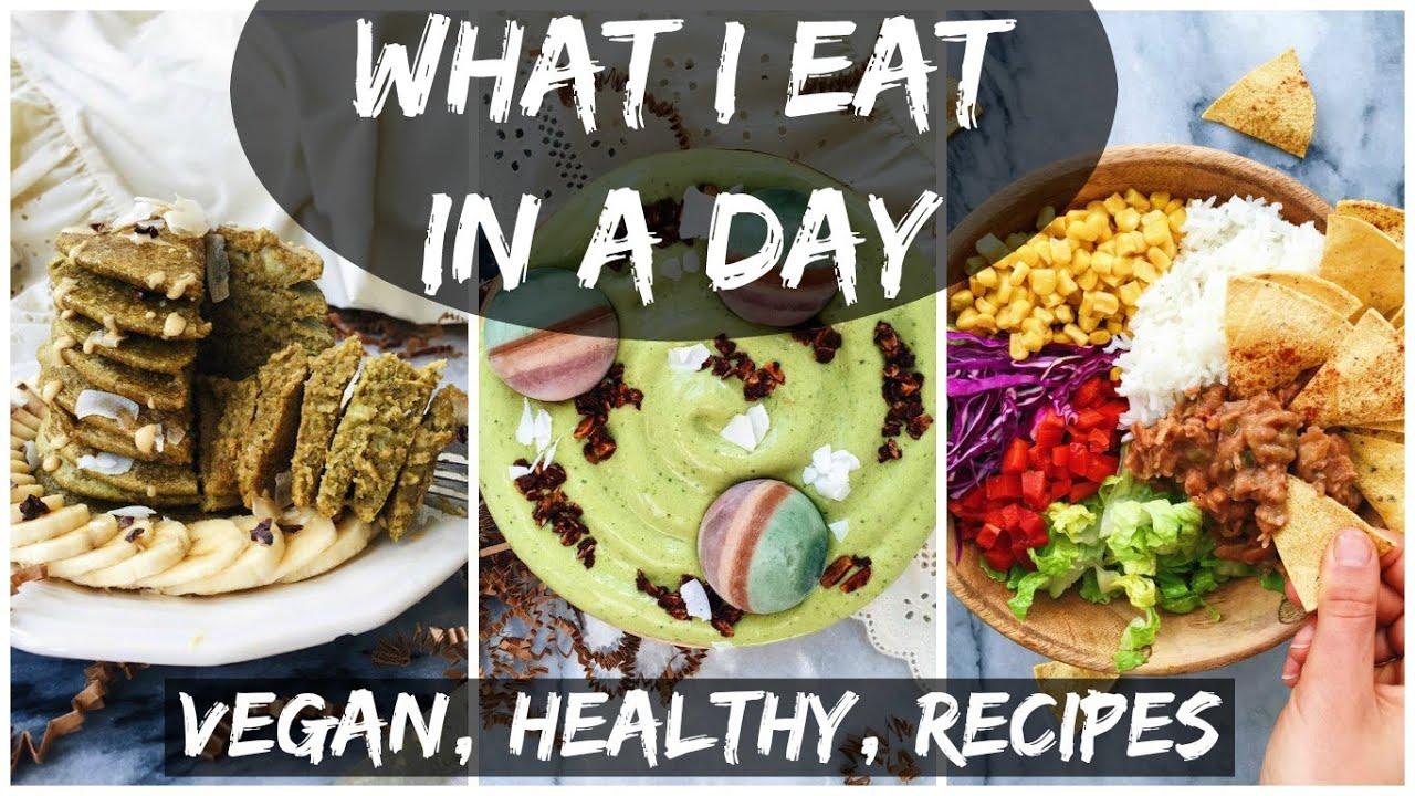 What I Eat In A Day (16) || VEGAN + MATCHA PANCAKE RECIPE