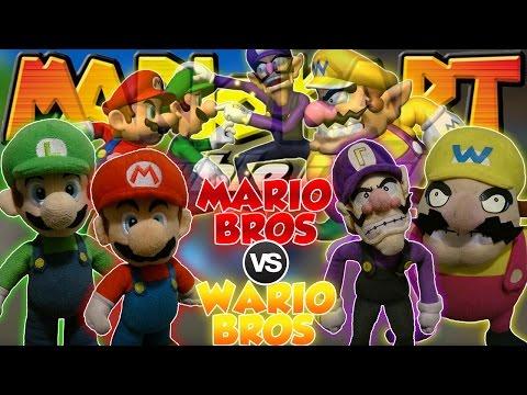 ABM: Mario & Luigi VS Wario & Waluigi !! Mario Kart Double Dash!! RACING & BATTLE MATCH !! HD
