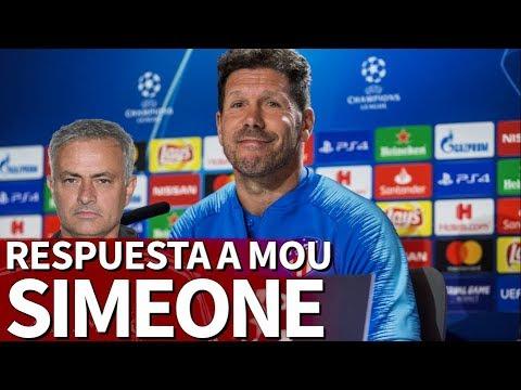La elegante respuesta de Simeone a Mourinho por su frase del Atleti  Diario As
