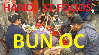 Bun Oc Snail Soup Street Food Hanoi Vietnam 2016