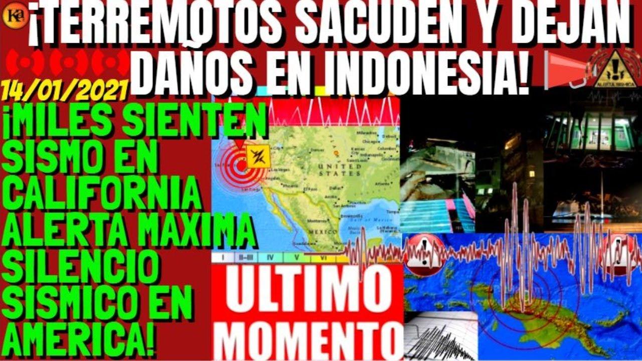 ¡ESTA PASANDO FUERTES TERREMOTOS DEJAN DAÑOS INDONESIA Y SIGUE AMERICA! SISMO EEUU LO SIENTEN MILES!