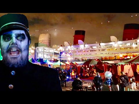 Dark Harbor at The Queen Mary 2018 Horror Haunt Aboard A Ship - Inside The Mazes & Scare Zones
