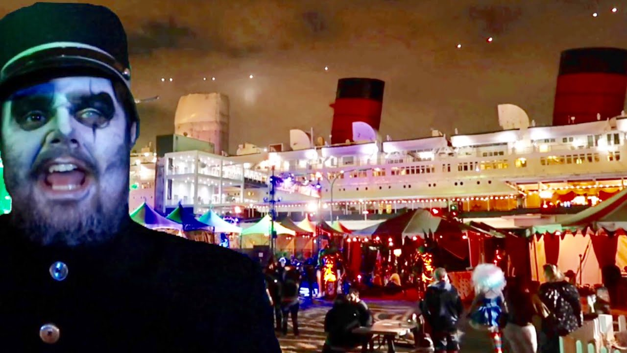Dark Harbor at The Queen Mary 2018 Horror Haunt Aboard A Ship , Inside The  Mazes \u0026 Scare Zones