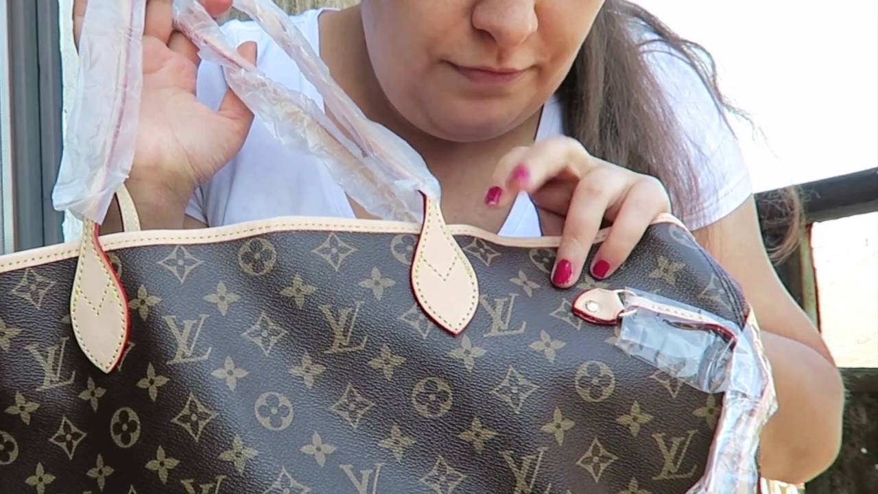 LOUIS VUITTON NEVERFULL MONOGRAM REPLICA MM from REPLICAHANDBAGS SITE  unboxing c930af52665dd