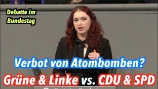 Verbot von Atombomben: Grüne & Linke (Ja) vs. CDU & SPD (Nein)