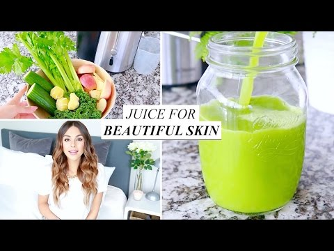 GREEN JUICE RECIPE FOR CLEAR SKIN | Annie Jaffrey