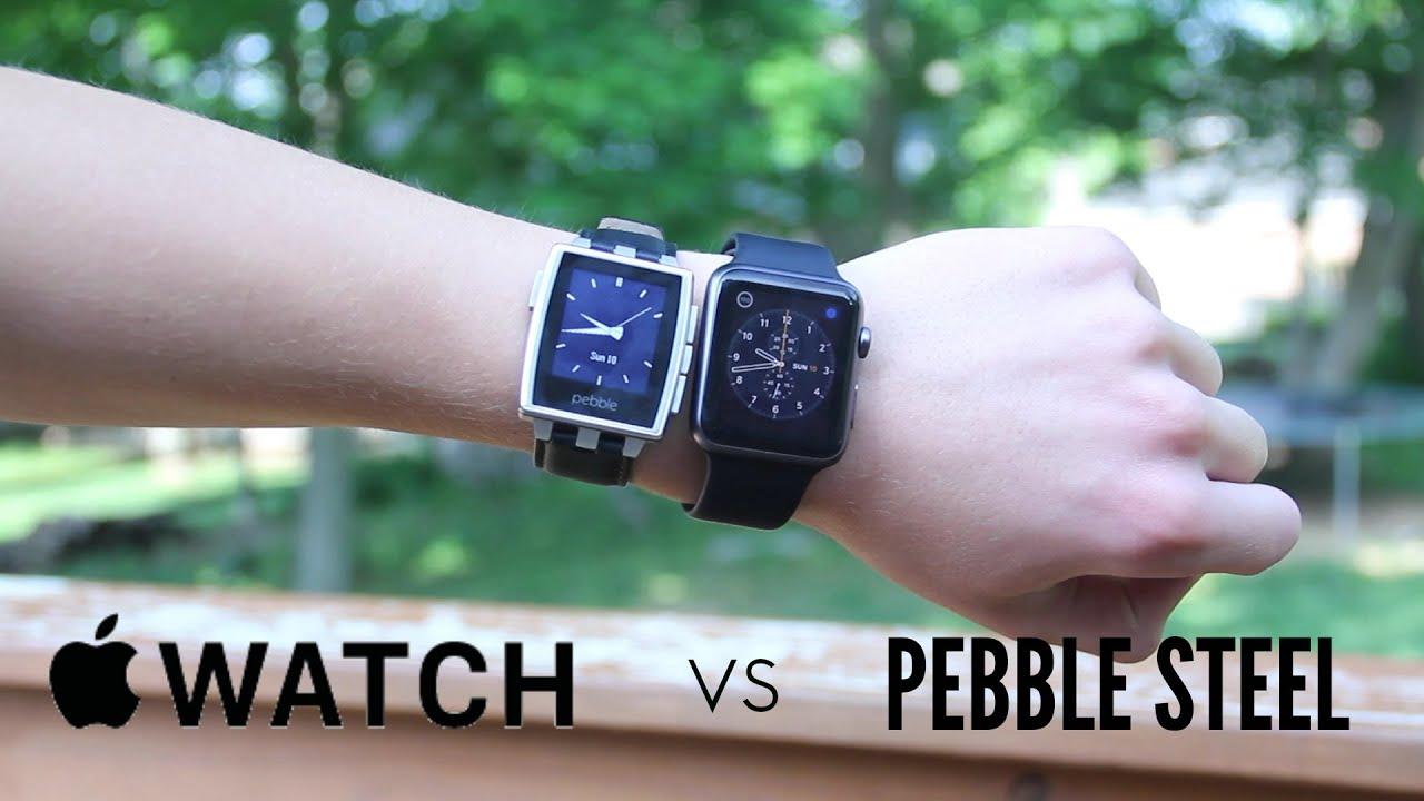 Apple Watch (Sport) vs Pebble Steel