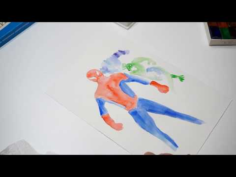 How To Paint Spiderman With Watercolor Paint (for Beginner)