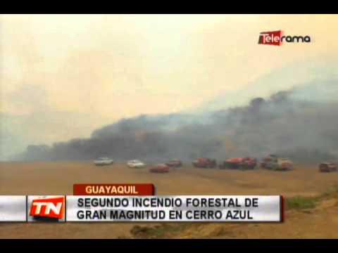 Segundo incendio forestal de gran magnitud en cerro azul