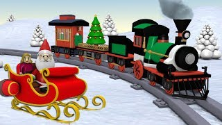 Toy Factory Train Cartoon - Trains for Kids - choo choo train - Santa Cartoon - Train - train videos