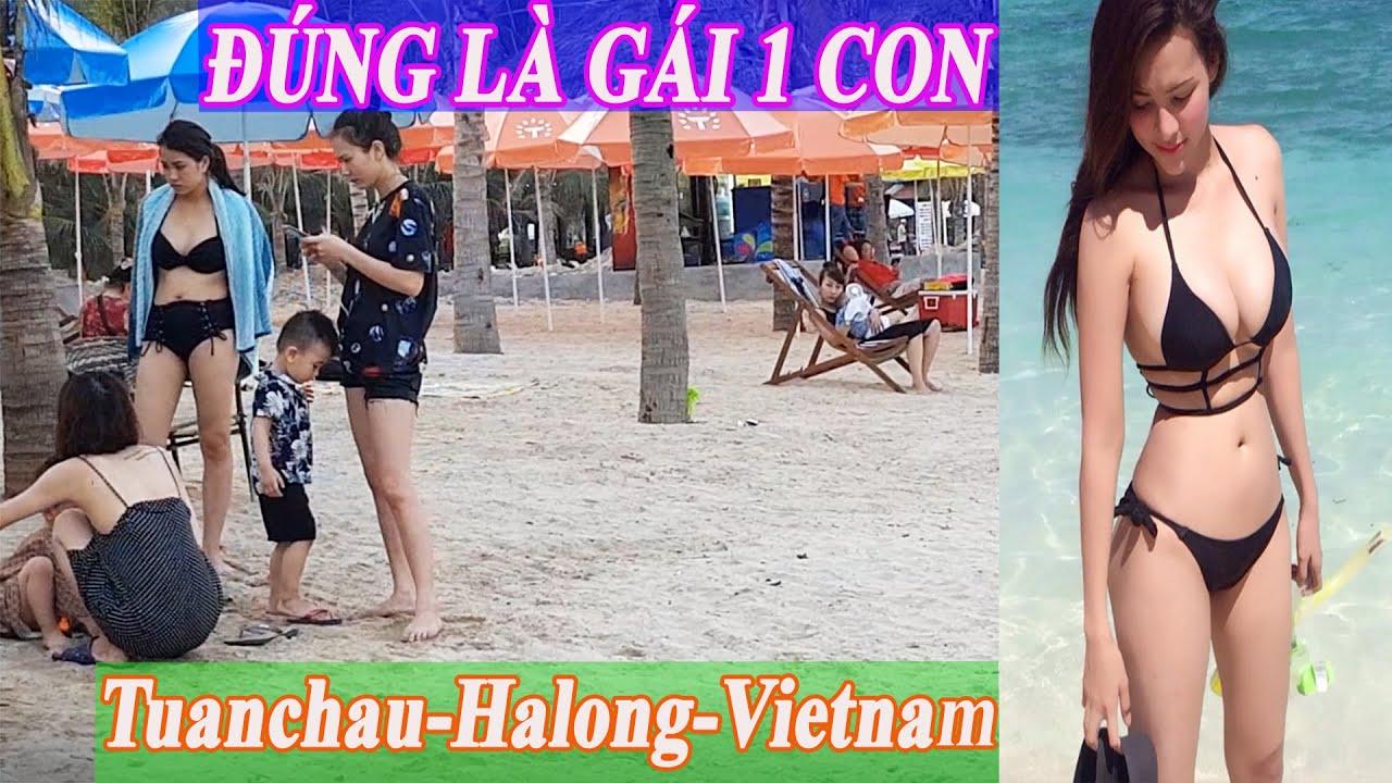 G.Á.I 1 CON TẬP TRUNG ở bãi tắm đảo tuần châu hạ long quảng ninh/Tuanchau halong vietnam travel