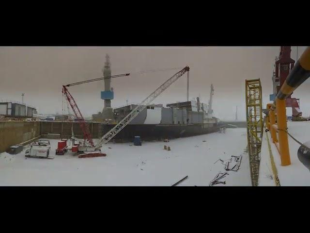 Tallink MyStar's construction in Rauma shipyard, Finland, from 20 October 2020 until August 2021