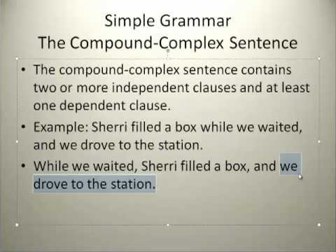 the compound complex sentence youtube