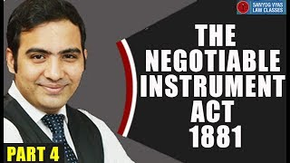 The Negotiable Instruments act 1881 Part  4  by Advocate Sanyog Vyas
