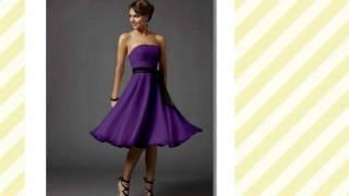 платье фиолетового цвета