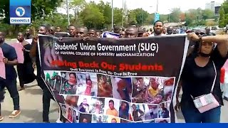 Parents Of Abducted Students Protest At NASS