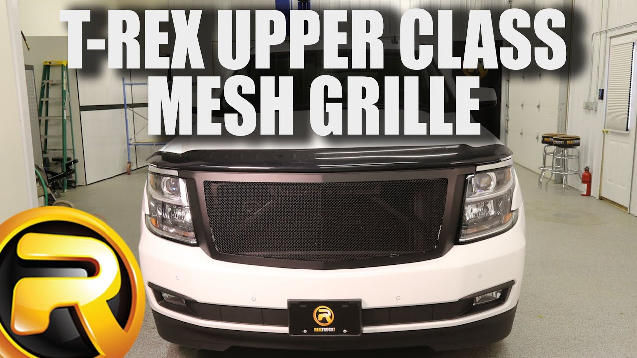 How to install t rex upper class mesh grille on a 2015 chevy suburban