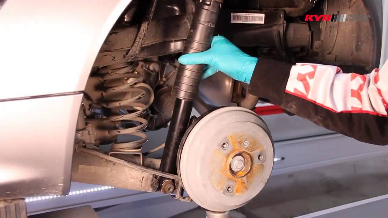 How to remove the rear shock absorber 3