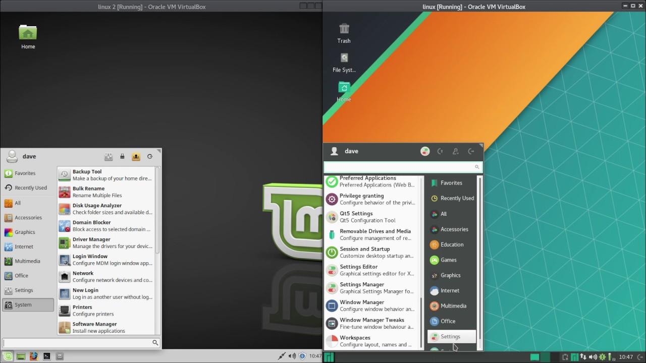 Mint Xfce VS  Manjaro Xfce