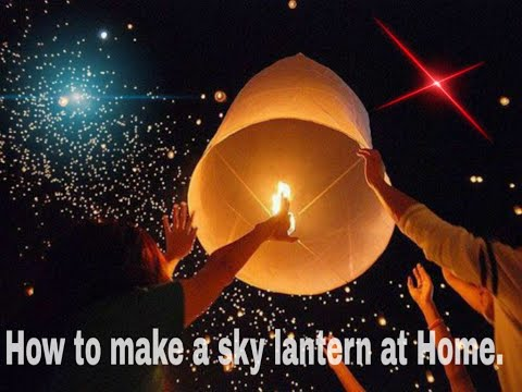 how to make a sky lantern.#diwali special DIY