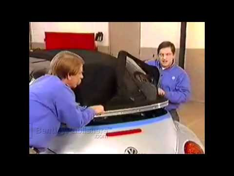 VW New Beetle Convertible 2003-2010 - Convertible top outer shell remove, install - DIY Repair