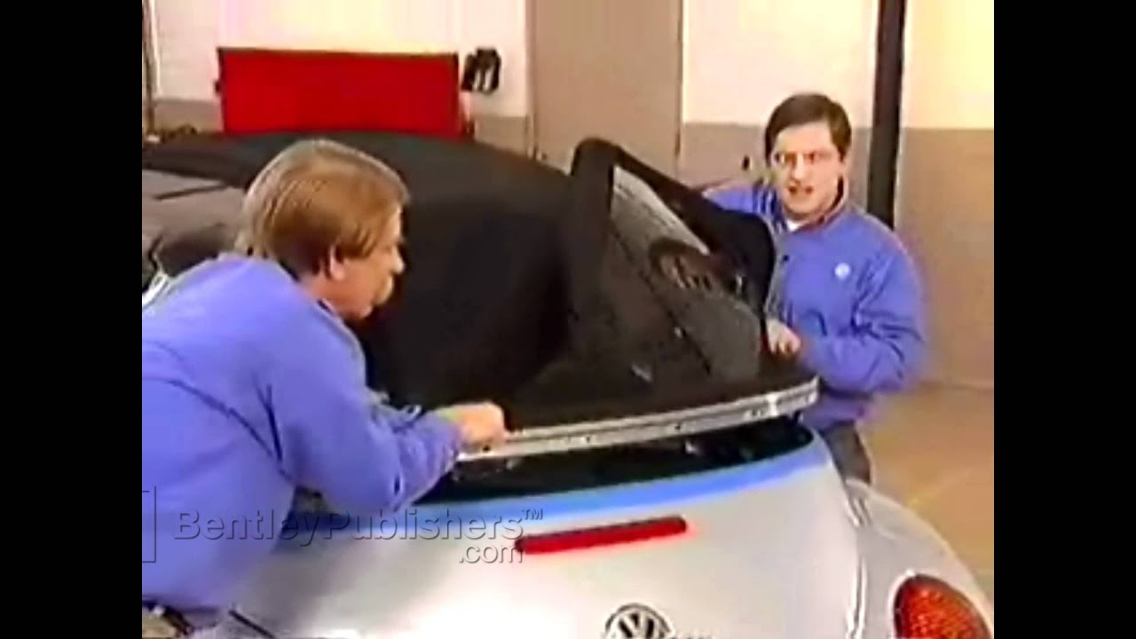 Vw New Beetle Convertible 2003 2010 Top Outer Shell Remove Install Diy Repair