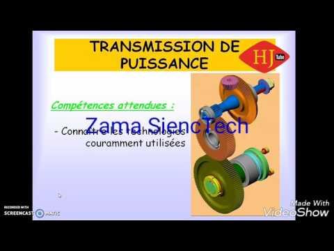 Transmission de puissance: calcul et caractéristiques