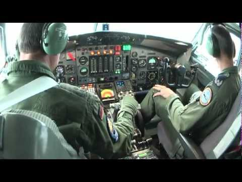 NATO Boeing 707 flight from Preveza to Geilenkirchen - full HD cockpit video 43 min.