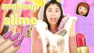 connectYoutube - MIXING ALL MY MAKEUP IN SLIME! 30 different makeups in slime | Slimeatory #283