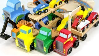 Wooden Toy car carrier comes out. What kind of car do you want to ride?