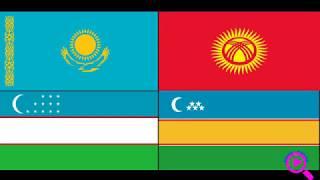 Описание флагов Кыргызстана, Казахстана, Узбекистана и Каракалпакстана