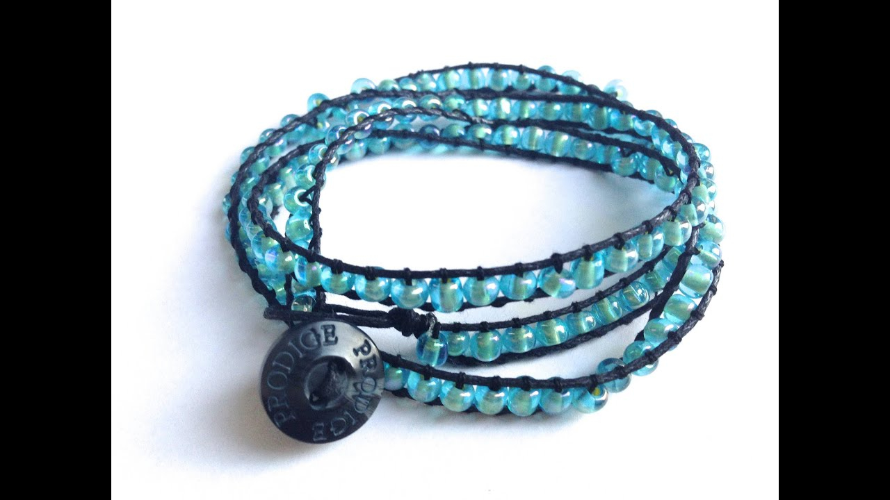 g wrap crochet necklace silk braided boho thread turquoise seed handmade gan chic bracelet bead in