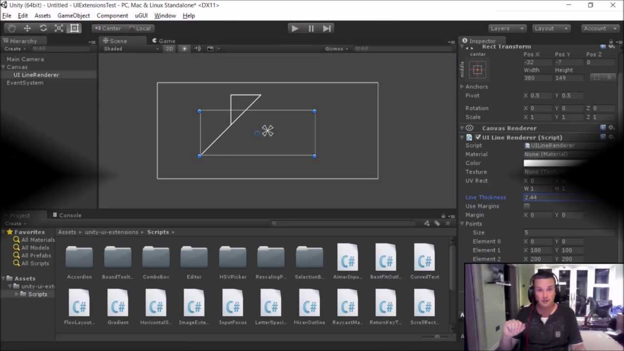 Unity UI Extensions - UI Line Renderer control overview