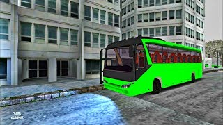 Bus Simulator Cockpit Go SNOW DRIVING Android Gameplay screenshot 5