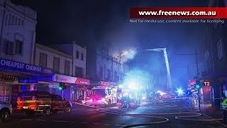 Building Destroyed After Fire In Newtown Sydney