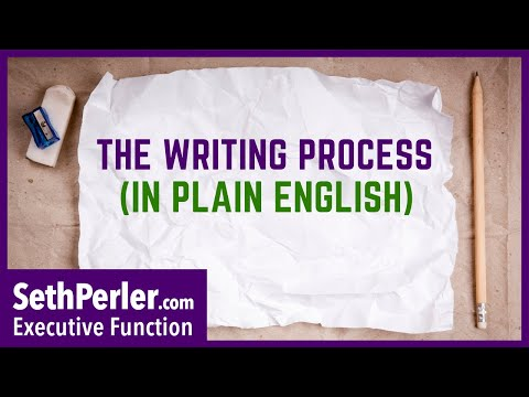 How to use the WRITING PROCESS (in plain English!)