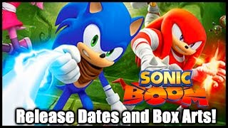 Sonic Boom (Wii U and 3DS) - Release Dates and Box Arts!