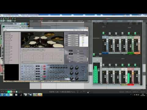 SKnote MotorTown - Custom Mahogany kit and Virtual Drummer.