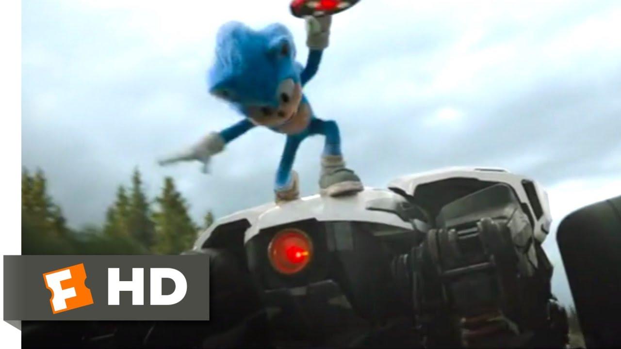Sonic The Hedgehog 2020 Sonic Vs Robotnik Scene 5 10 Movieclips Youtube