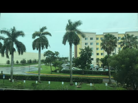Live look at Miami as Hurricane Irma nears South Florida.