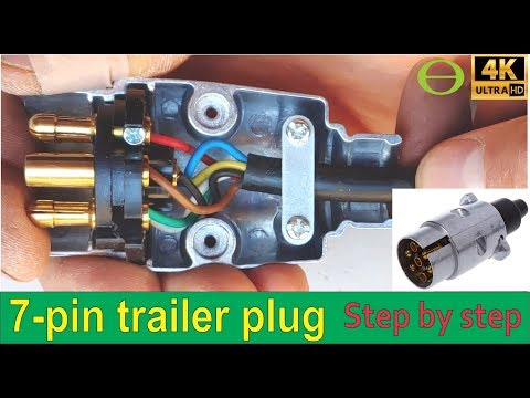 How To Wire A 7 Pin Trailer Plug (diagram Shown)