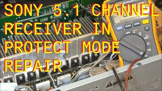 Sony Audio Receiver in Protect mode Repair Fix STR-DG720 - Stafaband