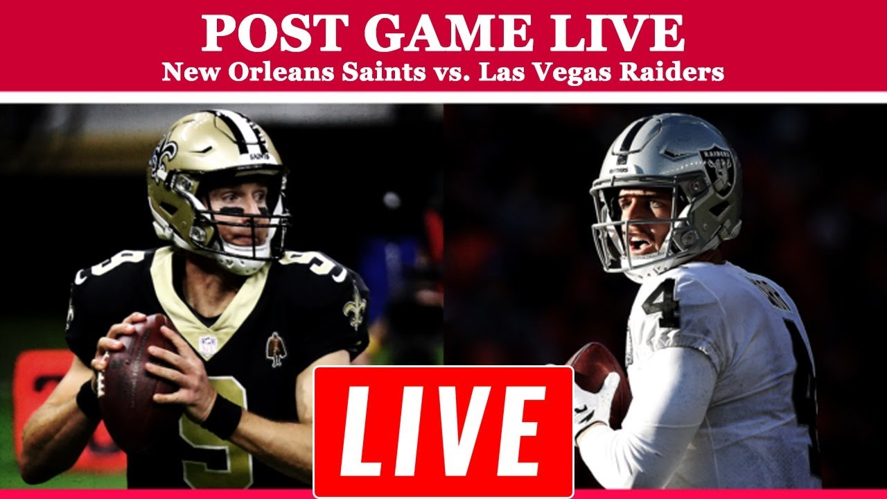 NFL TOTAL ACCESS LIVE HD 9/21/2020 | POSTGAME LIVE: New Orleans Saints vs. Las Vegas Raiders