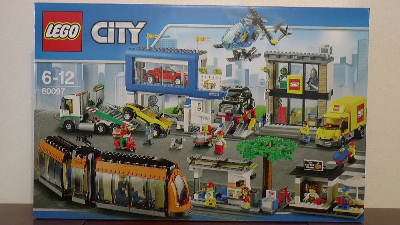 Lego City 60097 Plac Miejski Youtube