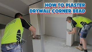 How to Finish Drywall Corner Bead with Hawk & Trowel