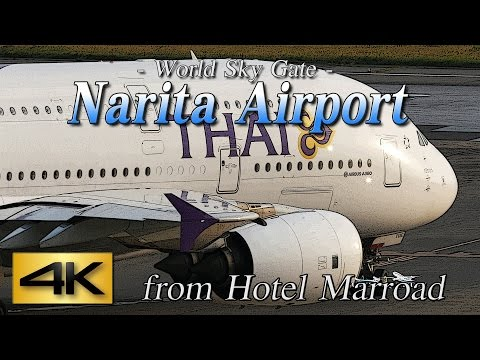 【4K】1Hour Spotting @Narita Marroad Hotel #2 June 12, 2015 the Amazing Airport Spotting