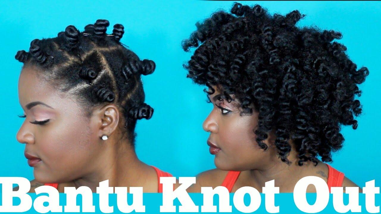 Bantu Knots On Short Natural Hair Youtube