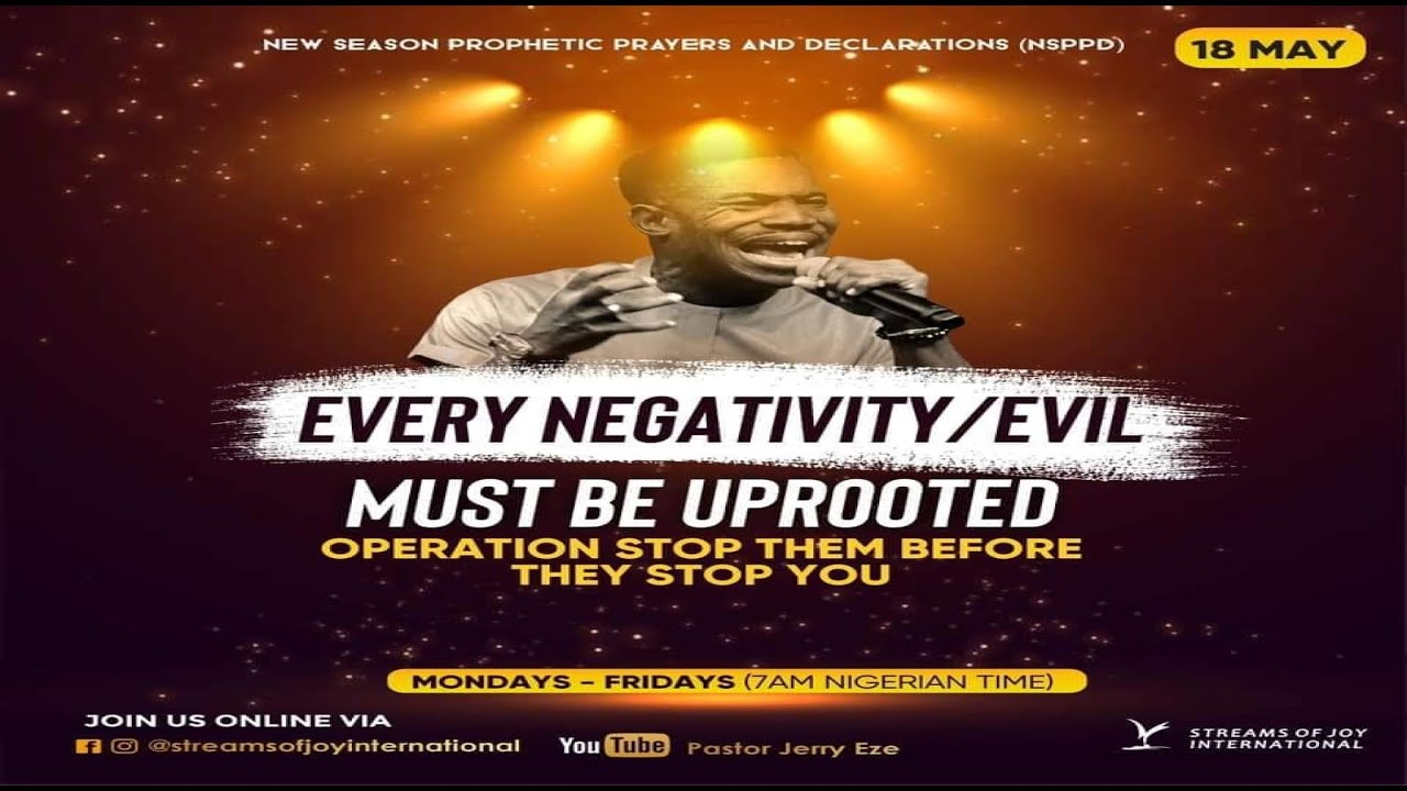 Download New Season Prophetic Prayers and Declarations [NSPPD] - 18th May 2021